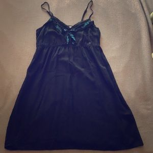 Black spaghetti strap summer dress